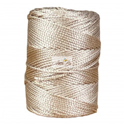 Beige 2mm Braided Polyester...