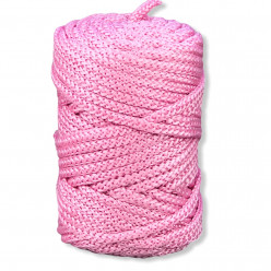 6mm Poly Braided Cord Pink