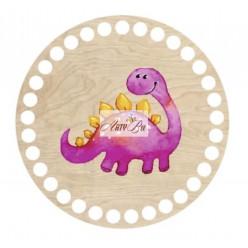 Wooden Base Baby Dinosaur...