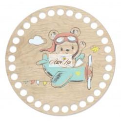 """Teddy Bear"" Wooden Base"