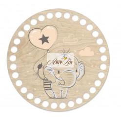 """""""Baby Elephant"""" Wooden Base"""