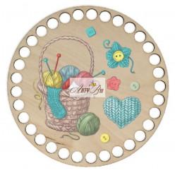 """""""Knitting&Crochet Basket""""..."""