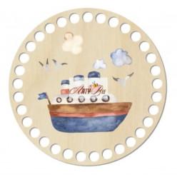"""Funny Boat"" Wooden Base"