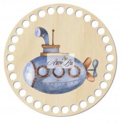 """Funny Submarine"" Wooden Base"