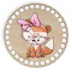 """""""Baby Fox Cub"""" Wooden Base"""