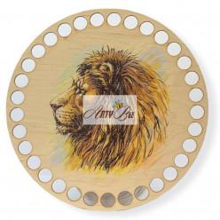 """Lion"" Wooden Base"