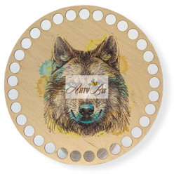 """""""Wolf"""" Wooden Base"""