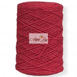 Dark Red 2mm Braided Cotton...