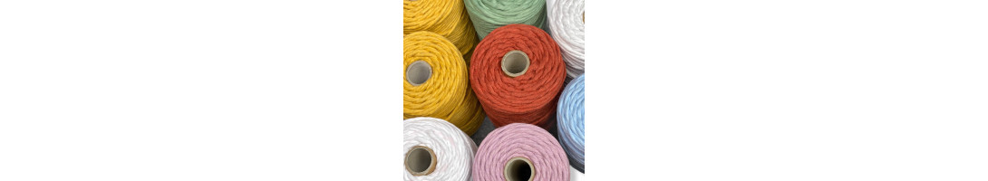 3-4mm Premium Single Twisted Cotton Cord MADE IN UK